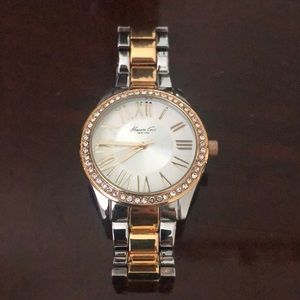 Kenneth Cole Gold Trendy Watch with Crystal